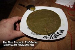 Marijuana butter that is loaded with THC.