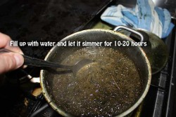 Simmering for 10-20 hours will give you the best results.